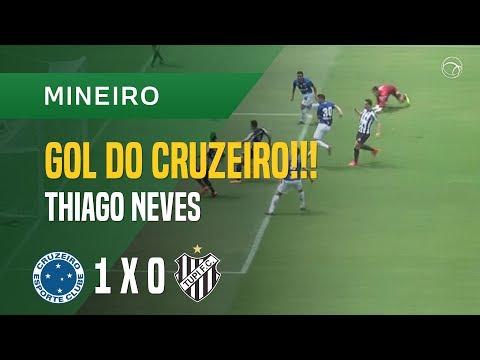 GOL (THIAGO NEVES) - CRUZEIRO X TUPI - 25/03 - MINEIRO 2018