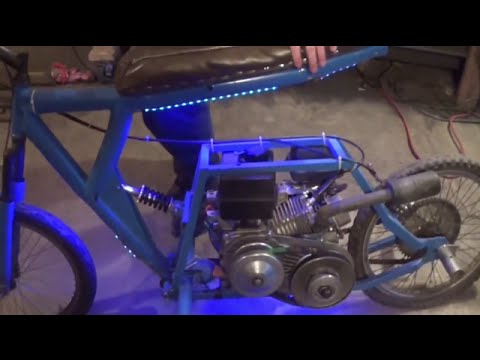 fixing the blue home made dirt bike
