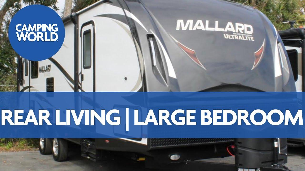 Mallard Travel Trailer >> 2018 Heartland Mallard M27 | Travel Trailer - RV Review: Camping World - YouTube