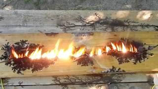нОВАЯ ТЕХНОЛОГИЯ. Как сделать молнию на дереве в домашних условиях