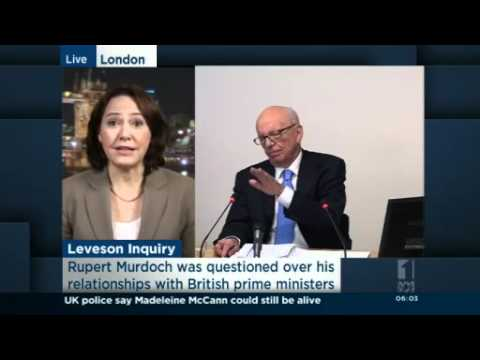 Rupert Murdoch appears at phone hacking inquiry