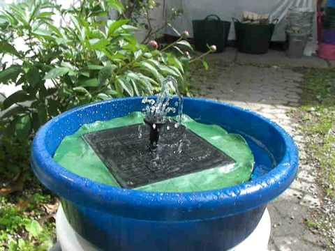 solcelle springvand med batteri