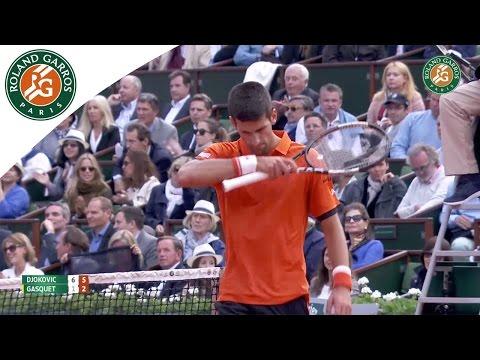 N. Djokovic v. R. Gasquet 2015 French Open Men's Highlights / 4th Round