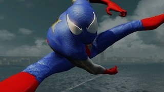 Captain America Spider-man Gameplay - The Amazing Spider-man 2 (PC) MOD