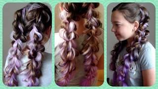 Воздушные косы с канекалоном. Цветные косы. Видео-урок.