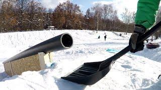 DIY Сноуборд спот - Спортивное сооружение своими руками