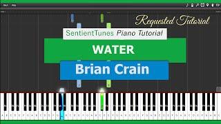 "Brian Crain - ""Piano Lessons"" WATER - Piano Tutorial HD"