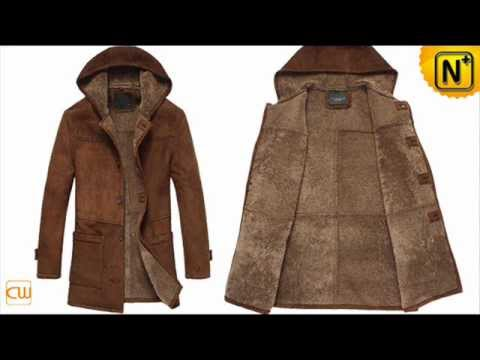 Men's leather coats CW833177,Fur Lined Hooded Trench Coat - YouTube