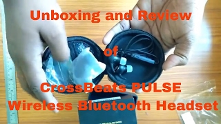 Unboxing and Review of CrossBeats PULSE Wireless Bluetooth Headset In-Ear Sports earbuds