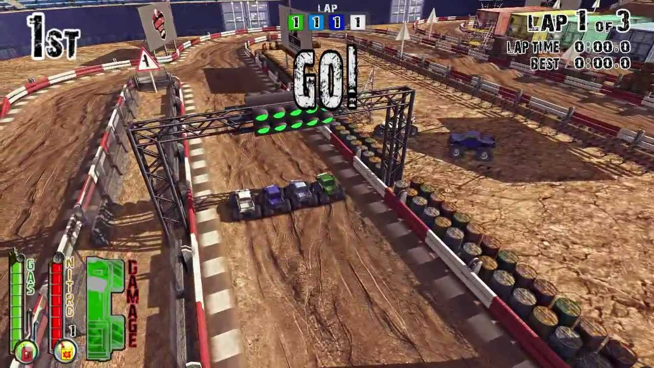 monster truck racing arenas pc racing game youtube. Black Bedroom Furniture Sets. Home Design Ideas