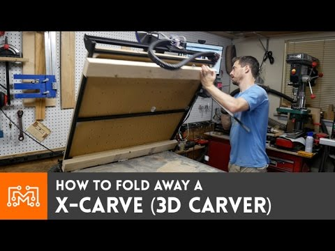 Fold Up X Carve On An Existing Work Table How To Youtube