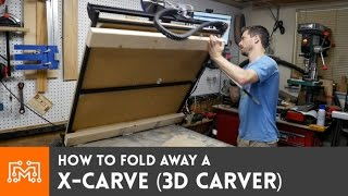 How To Make A Fold Up X-carve On An Existing Work Table