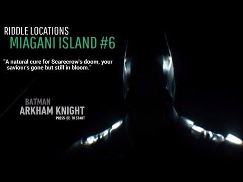 BATMAN: ARKHAM KNIGHT - Riddle Locations - Miagani Island #6
