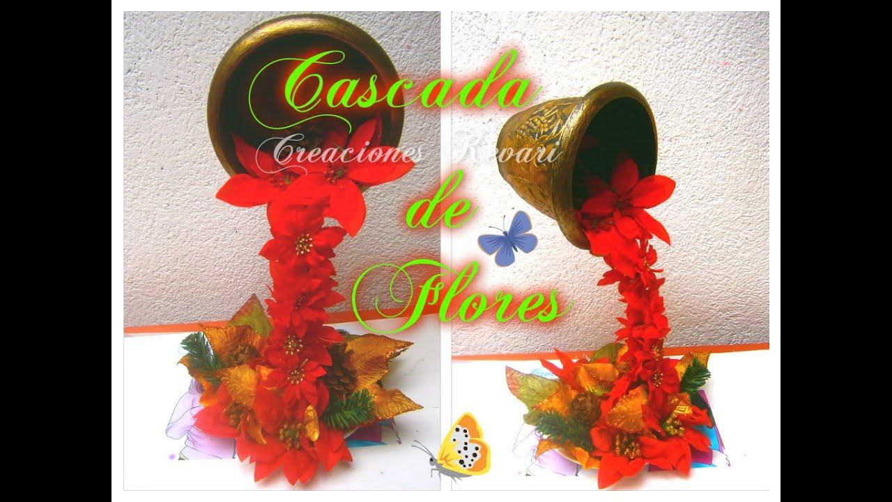 Cascada de flores centro de mesa quince a os bodas - Centro navideno de mesa ...