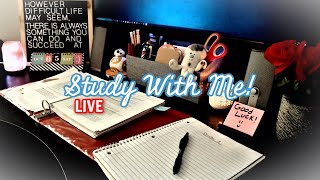 STUDY WITH ME | 24/7 (50 -10 Pomodoro) | ASMR Fireplace Ambiance | With Timer & Break Music