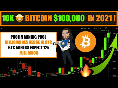 WOW !!! BITCOIN 10K TODAY BUT $100,000 In 2021 - BILLIONAIRES HEDGE INTO BTC - BTC MINERS EXPECT 12K
