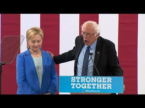 US election: Bernie Sanders endorses Hillary Clinton