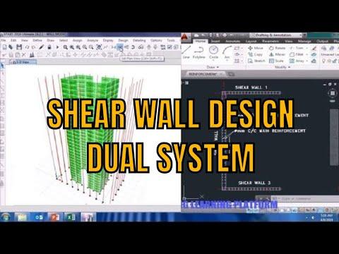 RCC Shear wall design for dual system using Etabs tutorial thumbnail