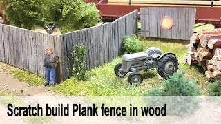 Model Realistic Plank Fence in H0-scale