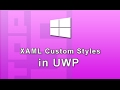 Xaml Custom Style Resource in UWP Windows 10 Apps