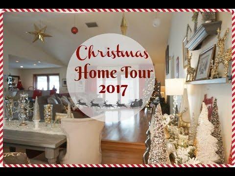 Christmas House Tour 2017| Glam Farmhouse Christmas Decorations| Megan Navarro #christmasdecorations
