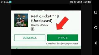 Real cricket 18 biggest update