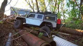 Does Netcruzer suck at RC crawling? Scrap Pile Crawler Course - TRX4 Defender 110 V8