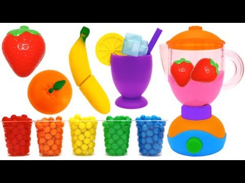 Toy Blender Playset Learn Fruits & Vegetables with Wooden Velcro Toys for Kids Nursery Rhymes