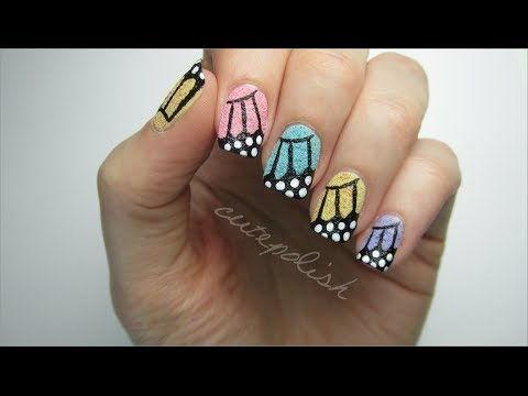 Textured Butterfly Wing Nails!