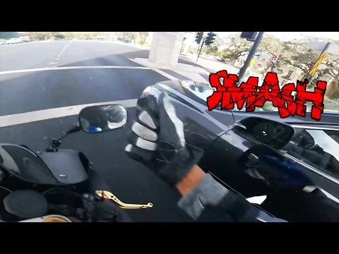 Biker Smash Mirror   Road Rage   Angry People vs Bikers Compilation   [Ep. #50]