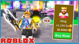 Unlocked King Class And New Slicer Light Saber in Roblox Saber Simulator screenshot 1