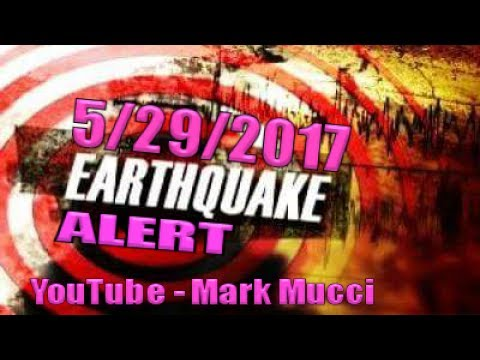 EQ ALERT -Magnitude 7.0 (6.6+) West Pacific 5/29/17 Tsunami Warning -Seismic increase - Be ALERT