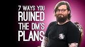 7 Ways D&ampD Players Destroy Their DM's Plans