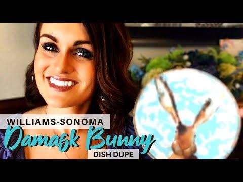 Williams-Sonoma Knockoff: Dollar Tree Spring DIY Bunny Plate