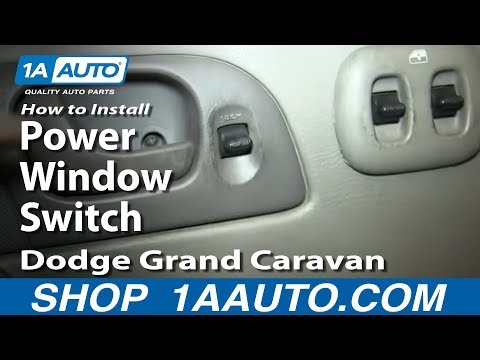 5 06 how to install replace power window switch 2002 07 for 2001 dodge caravan power window motor replacement