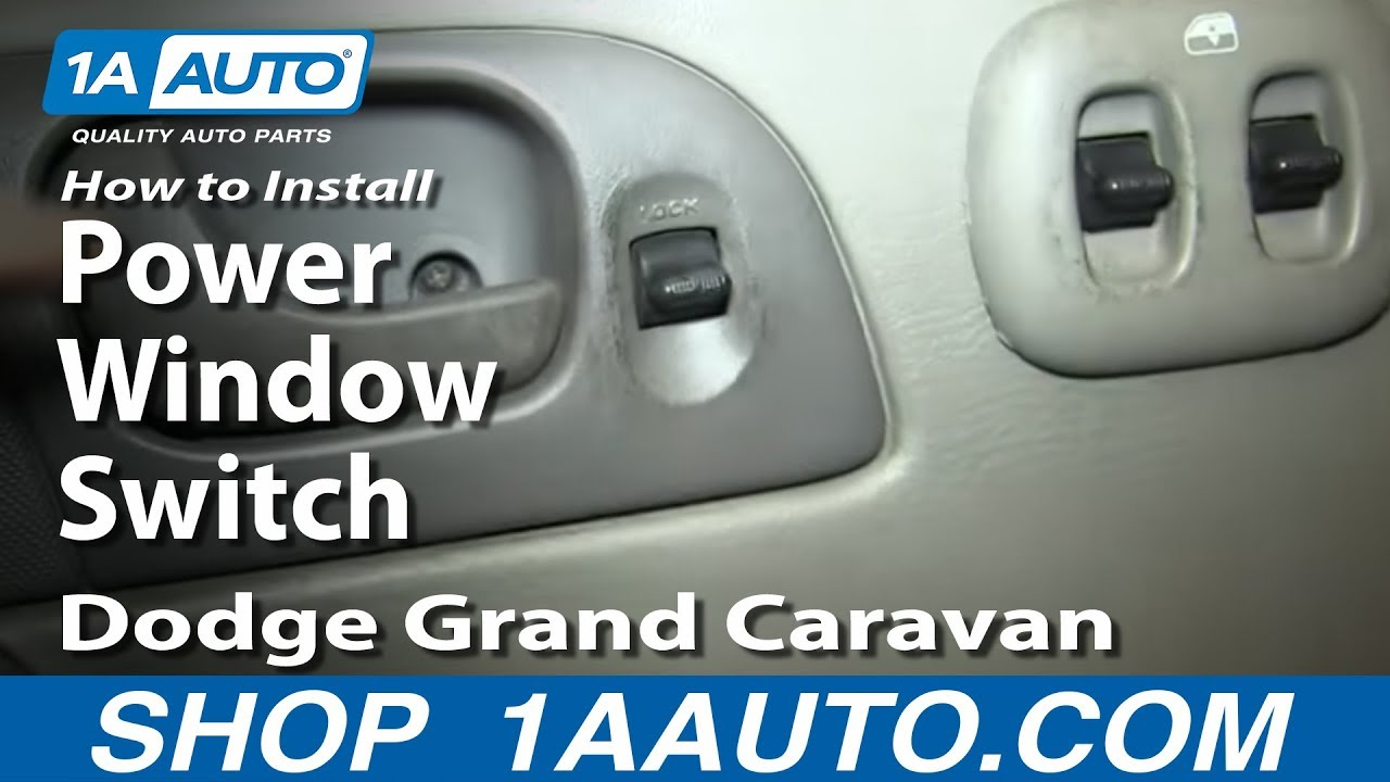 How To Install Replace Power Window Switch 2002
