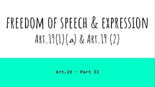 Baixar Freedom of Speech & Expression - Art.19(1)(a) & Art.19 (2) - Indian Constitution