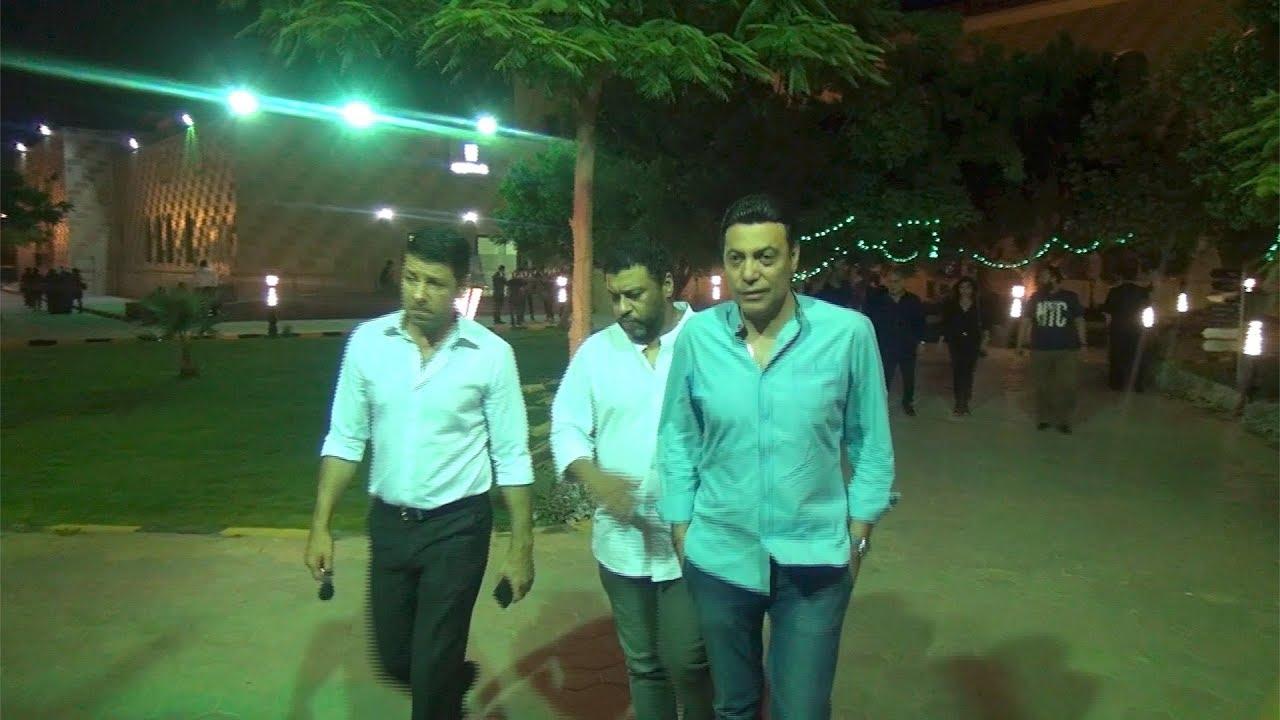 الوطن المصرية:إياد نصار وروجينا والسعدني في عزاء والدة داليا مصطفى