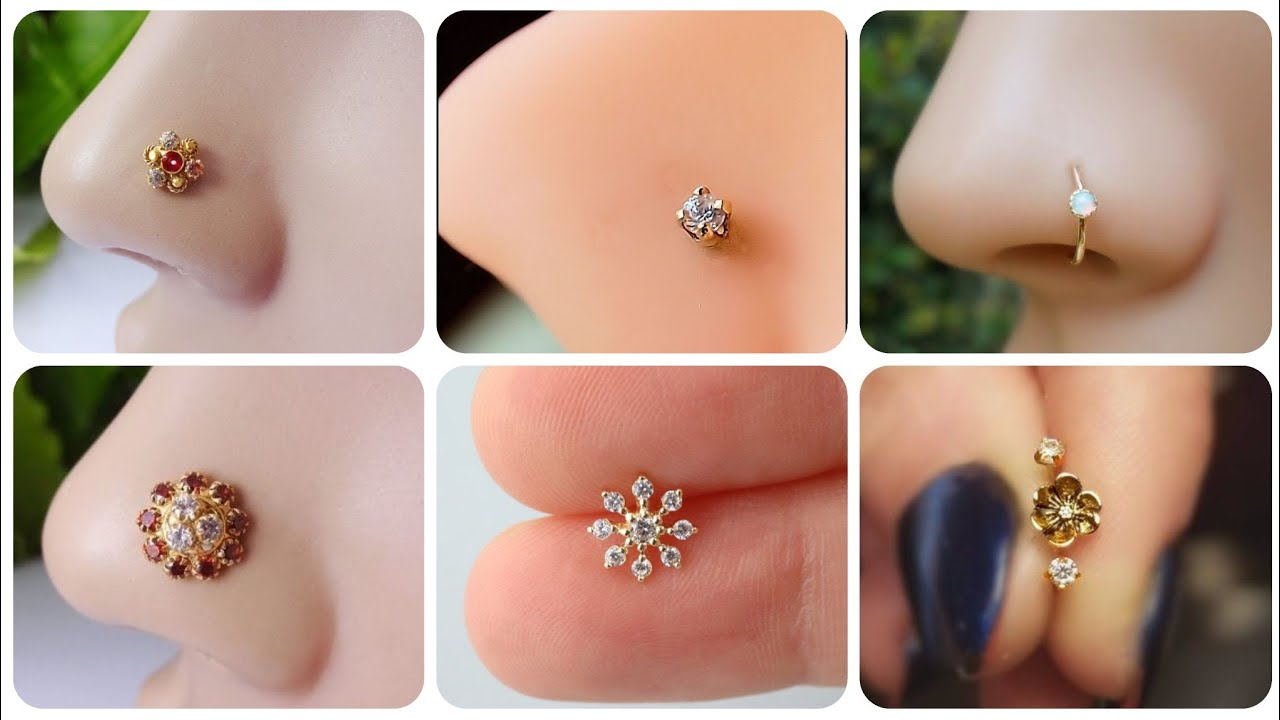 Stunning And Gorgeous Gold Silver Diamond Nose Stud And Nose Ring Designs Piercing Ideas Youtube
