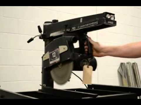 Verwonderend Dewalt Powershop Radial Arm Saw - YouTube NK-23