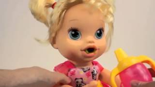 Кукла Пупсик  кушает  какает говорит обзор Baby Alive на русском Игрушки и Игры для девочек