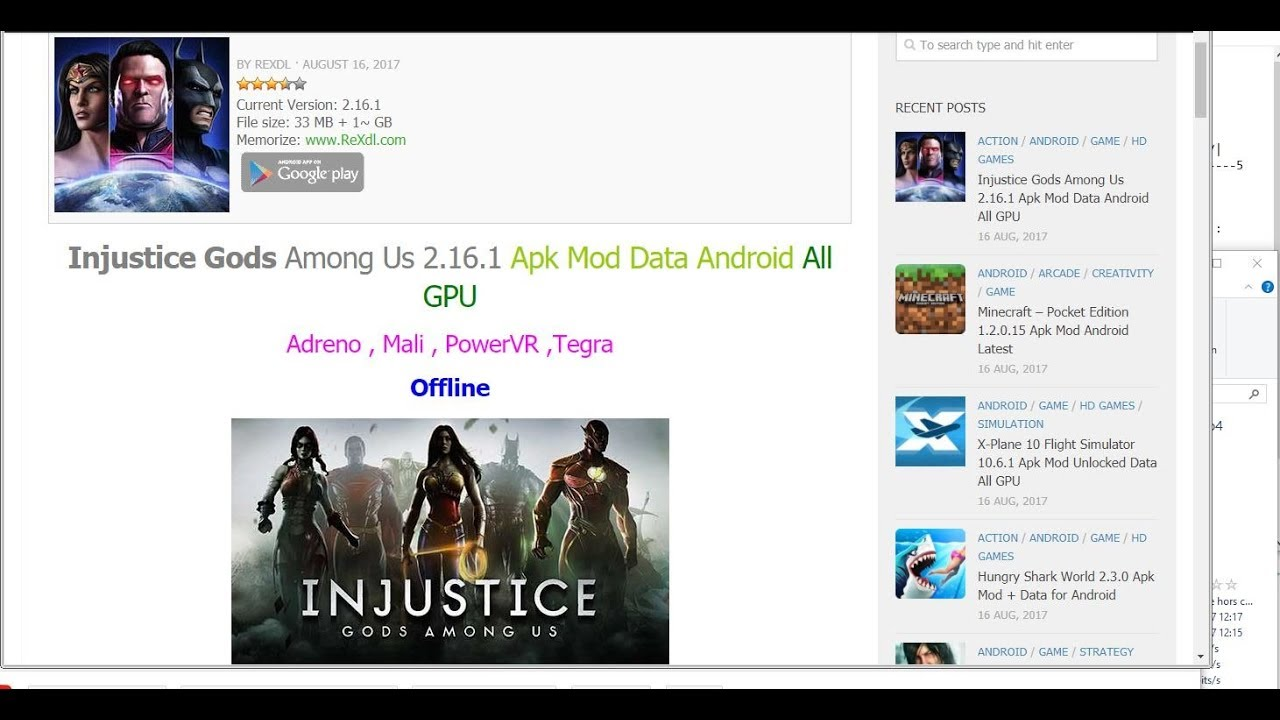 Injustice Gods Among Us 2.16.1 Apk Mod Data Android All ...