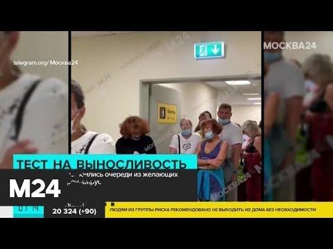 Очереди из желающих сдать тест на COVID-19 образовались в аэропортах Москвы - Москва 24