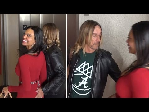 Iggy Pop Has Got A Lust For Wife At LAX!