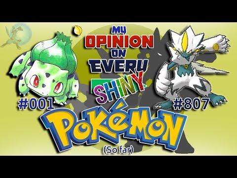 My Opinion On EVERY Shiny Pokémon [Generation 1 To 7]