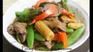 Beef With Asparagus And Baby Corn Stir Fry
