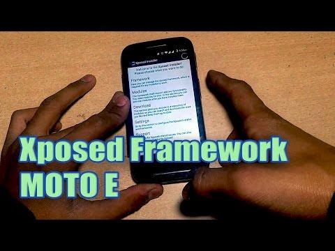 How to Install Xposed Framework in MOTO E 1st Gen