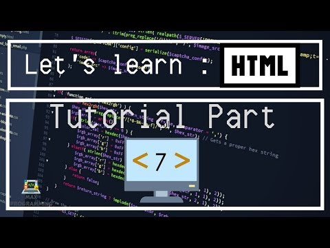 Let's learn: HTML Tutorial 7 - Form and Input tags thumbnail