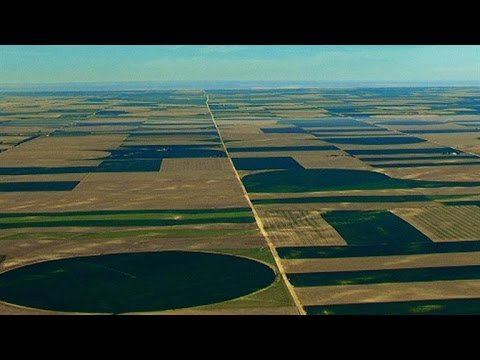 The Law Behind the Great Plains' Giant Square Plots