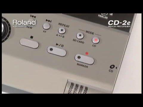 CD-2e SD/CD Recorder Introduction